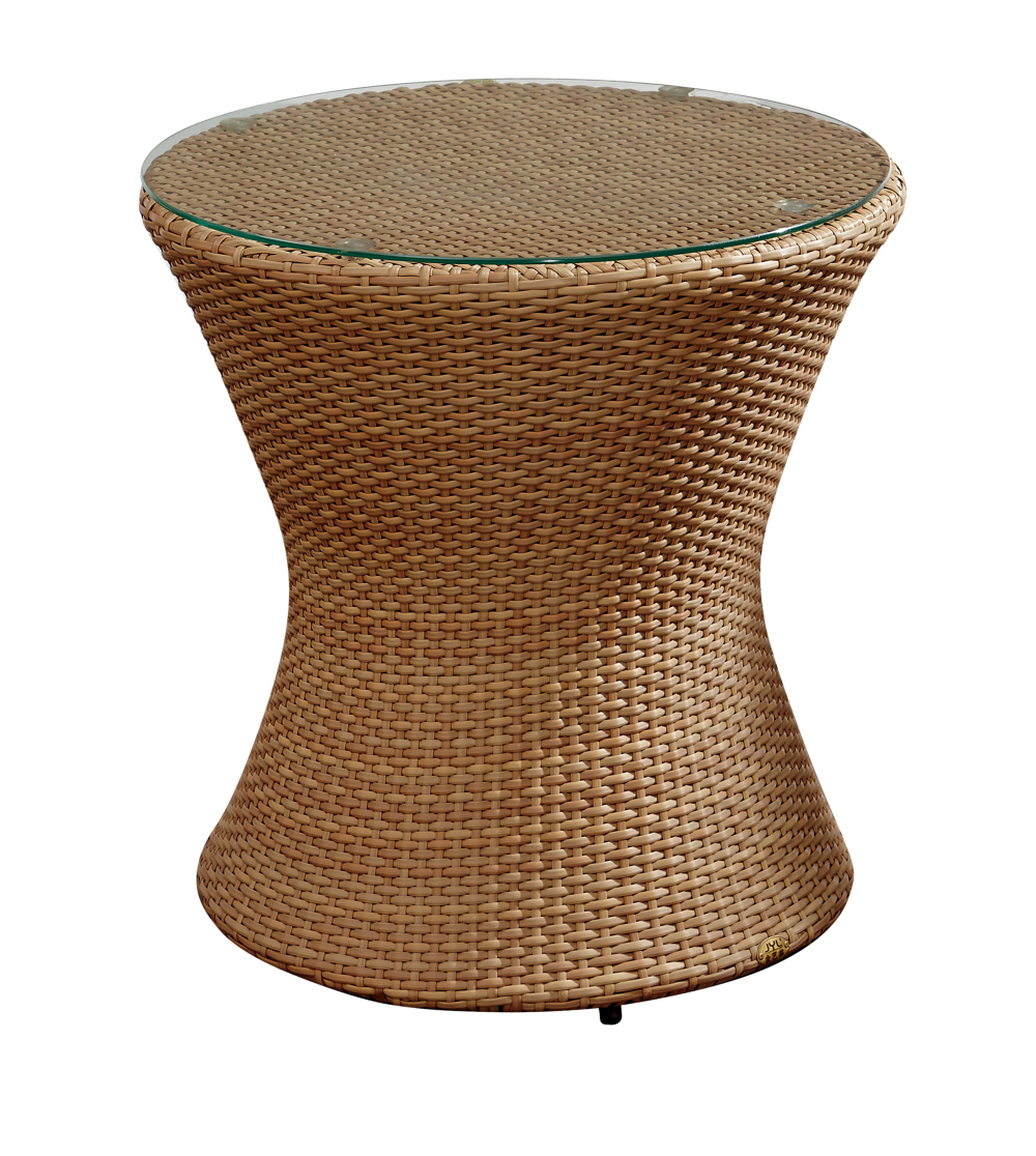 Rattan Side Table Garden Wicker Coffee