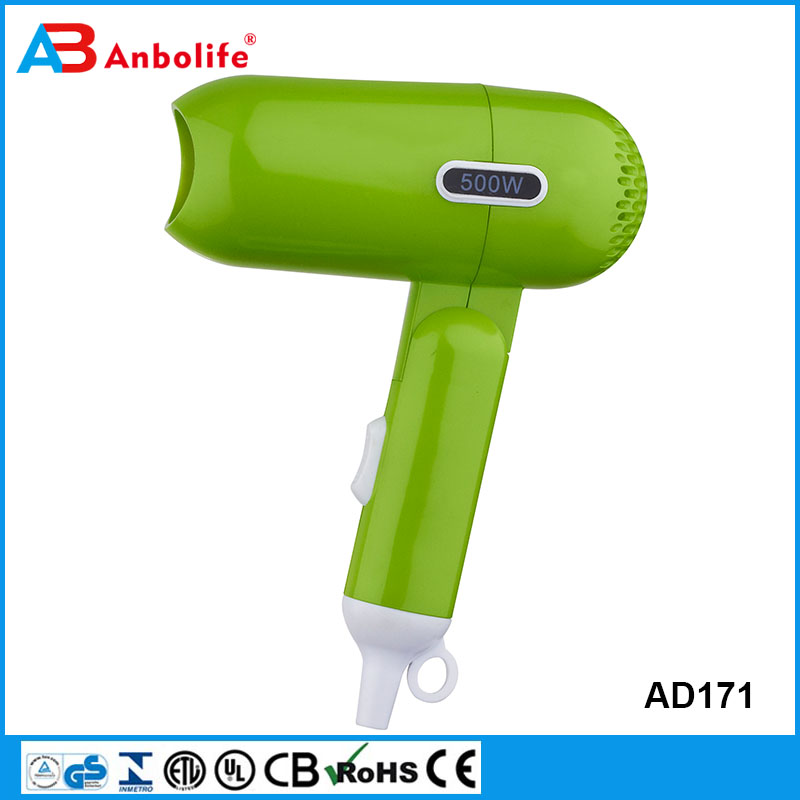 1600W Protable Hotel Medium Hair Dryer Foldable Mini Travel Hair Dryer with cool,warm,hot function