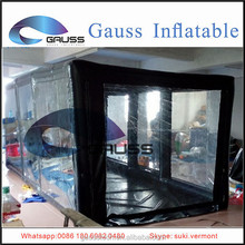 Inflatable black paint spray booth/Inflatable transparent spray booth tent