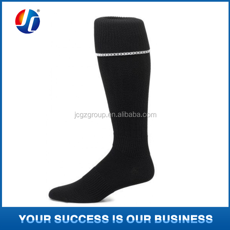 Wholesale Custom Provide Custom logo soccer socks high Nylon striped football socks for sporter