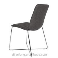 dark grey fabric dining chairs