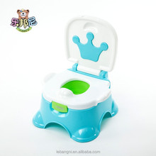 Lovely Design Crown Cartoon Crown Plastic Baby Potty Chair /Plastic Baby Chair