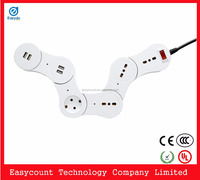 EPS100 electrical power strip 2 usb charge multiple socket outlet european
