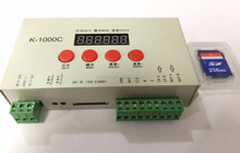 K-1000C with SD card 2048 pixels programmable pixel led light controller / rgb led controller
