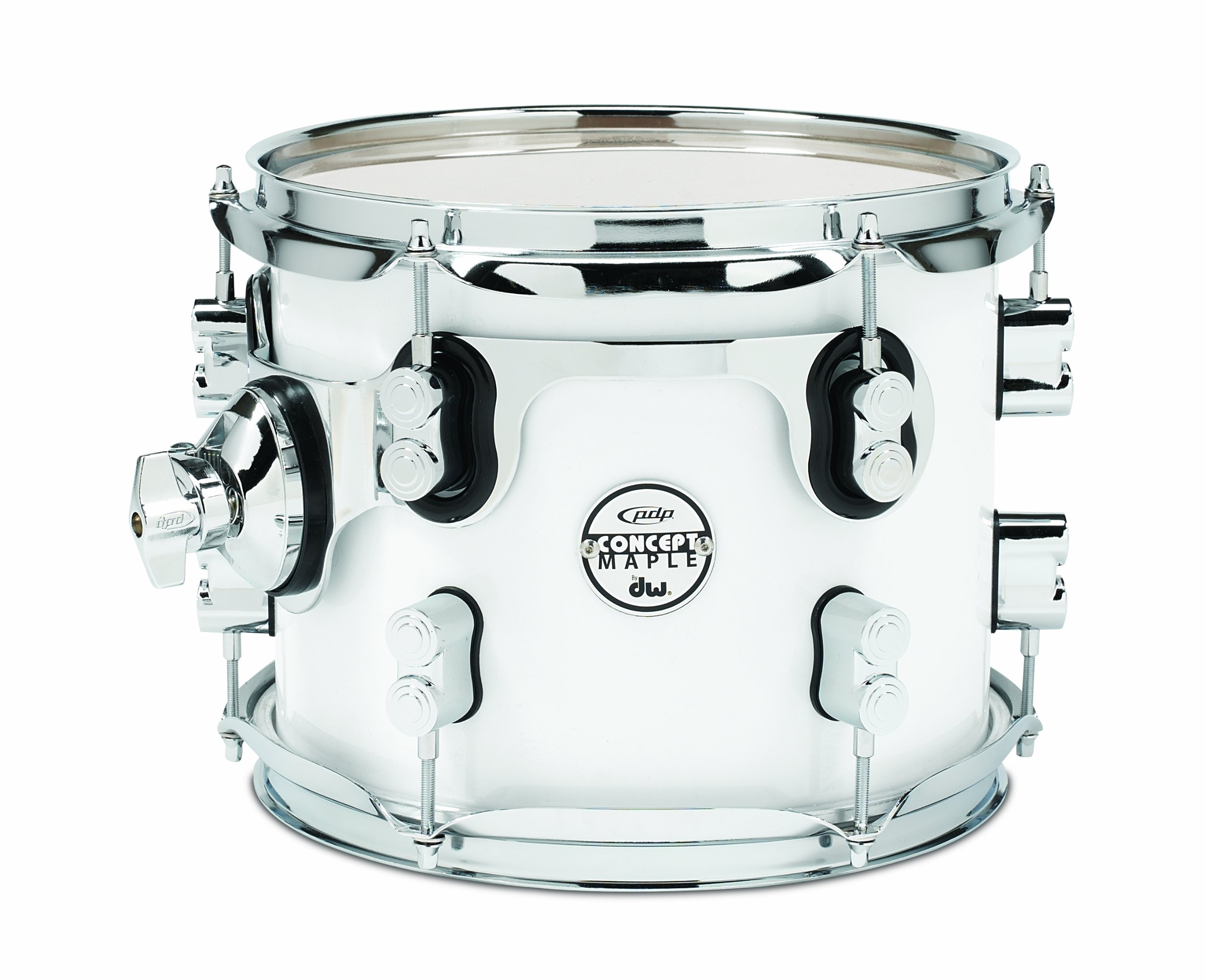 Pacific Drums PDCM0810STPW 8 x 10 Inches Tom with Chrome Hardware - Pearlescent White