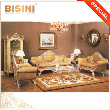 Classical Antique Design Sofa Set Living Room Furniture, Luxury Royal  Golden Fabric Sofa Set, View Antique Design Sofa Set, Bisini Product  Details ...