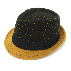 bb15237f33a Wool color matching hat wave point color hat men s jazz hat