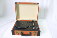 Portable Stereo USB turntable bluetooth classic style Record Player Turntable suitcase