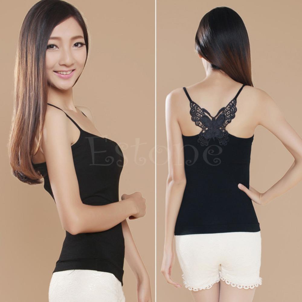 1 пк сексуальный женщины леди кружево ремень без рукавов рубашка жилет блузка контейнер черный белый