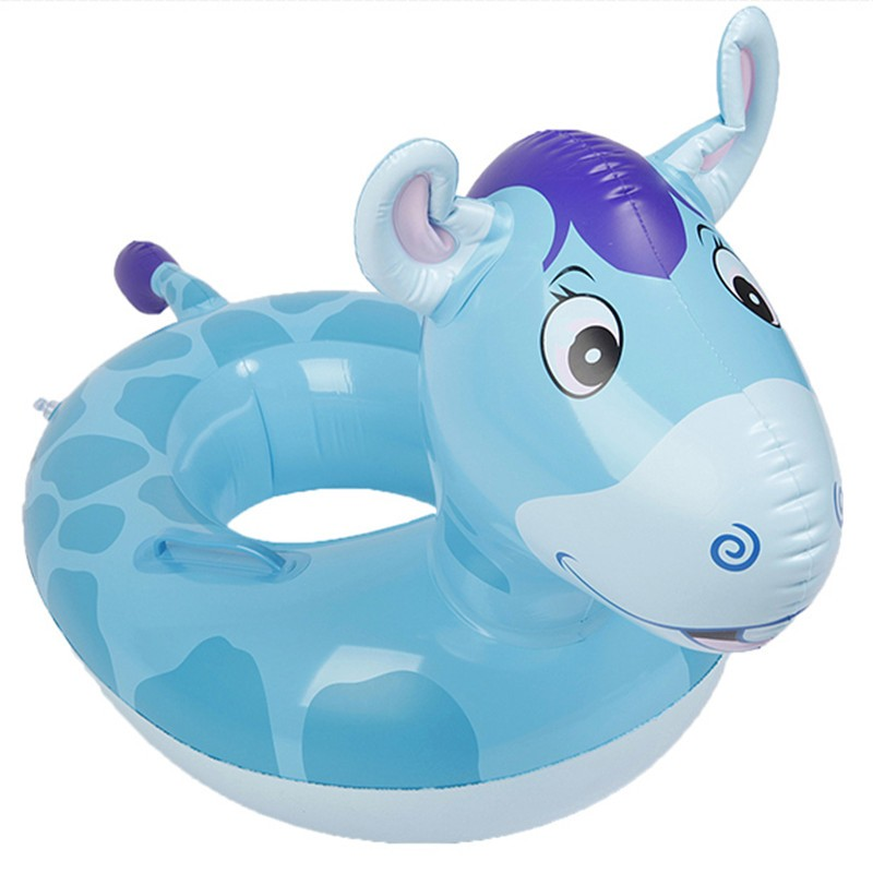 Lovely Design PVC Inflatable Tortoise Baby Swimming Ring Float Seat Boat