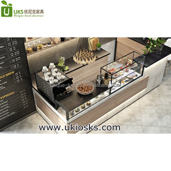 Cafe Store Display Counter And Coffee Shop Layout Design For