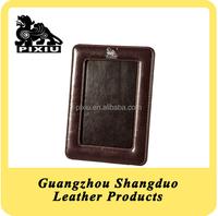 Delicate Handmade PU Leather Simple Design Photo Frame