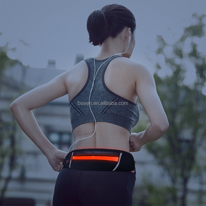 Sport accesories USB rechargeable running belt LED waist pack bag