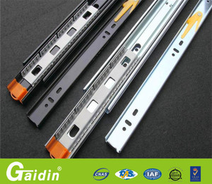 low MOQ welcome alibaba china supplier 3 fold full extension installing  ball bearing table install cabinet drawer slide rail