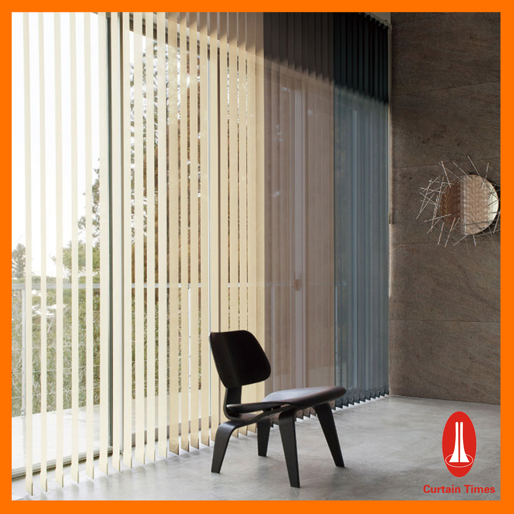 Curtain Times Home Decor Aluminum Vertical Blinds Electric Remote Control