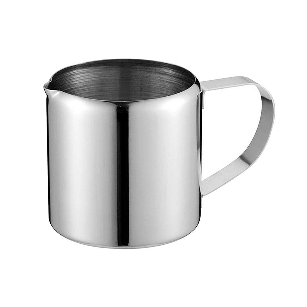 Homyl Stainless Steel Milk Frothing Pitcher, Perfect for Espresso Machines, Milk Frothers, Latte Art, 5 Capacity Available - 1oz