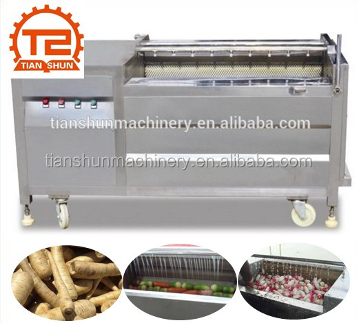 Electrical Brush Parsnip Washing and Peeling Machine