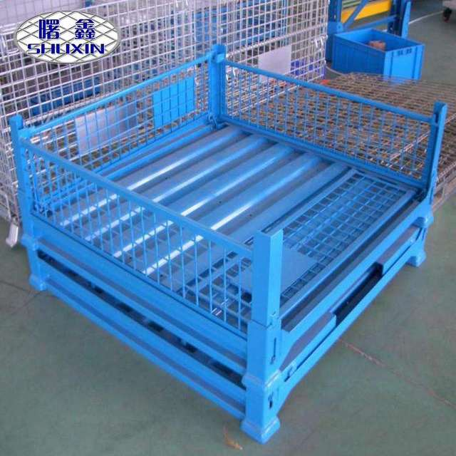 steel stackable wire baskets wheels-Source quality steel stackable ...