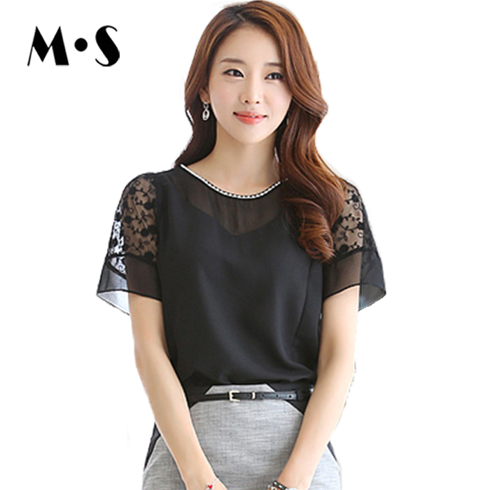 7f9ee23b Buy Korean Office Fashion Casual Women Chiffon Shirt Short Sleeve Plus Size  Blouse Ladies With Lace 2015 Summer Styles Top 1623 in Cheap Price on  Alibaba. ...