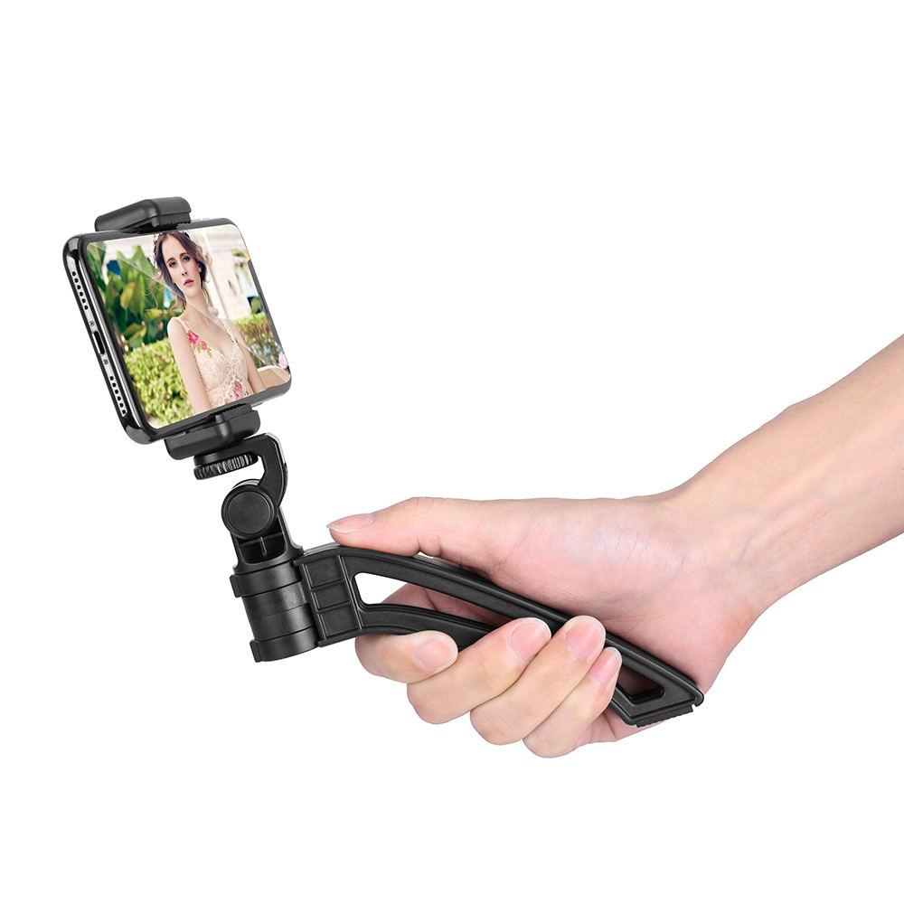 2018 Latest HOSHI-TRI foldable Multi-directional tripod portable shooting light camera tripod stand, Black