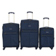 simple design 3 pcs set spinner wheels vintage fabric travel trolley luggage bags suitcase