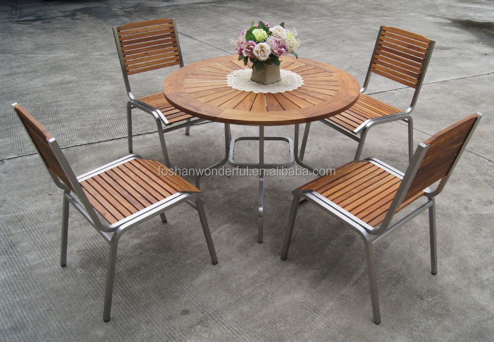 outdoor furniture set teak stainless steel garden furniture outdoor