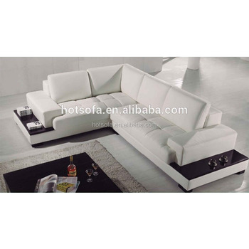T882 L Shaped Sofa Sets Leather White Modern Corner
