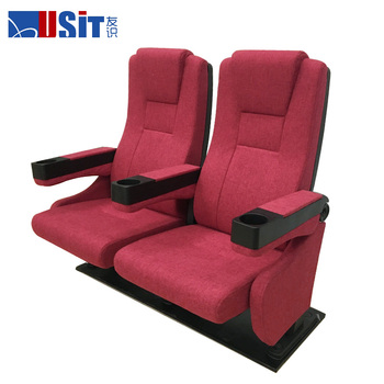 USIT UA-638E-13 Red fabric fixed back seat cinema chair in stock for sale