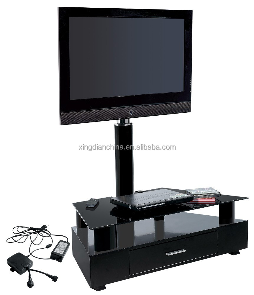 Tabletop Tv Stand Asda Wali Universal Lcd Flat Screen Tv Table  # Table Tv En Verre Design