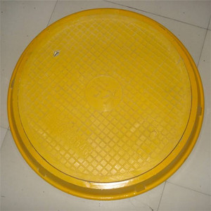 Beautiful composite round FPR SMC Manhole Cover with lock system