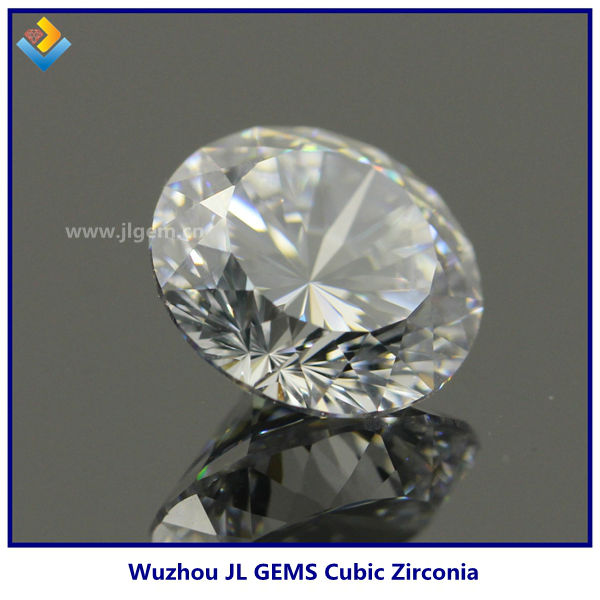 Brilliant machine cut 1mm 3mm round white cubic zircon stone