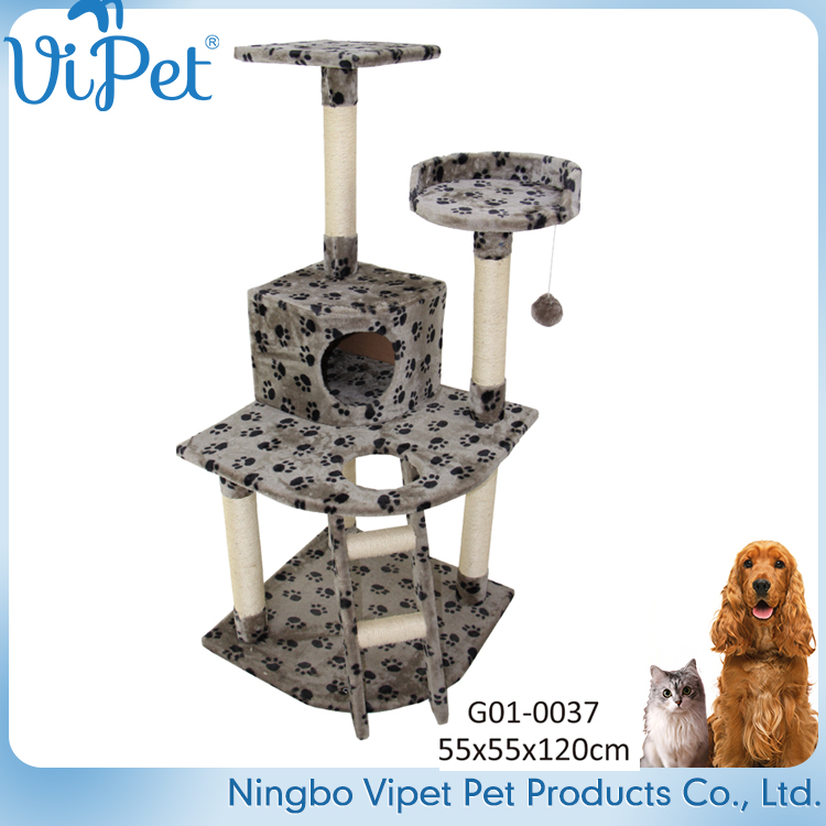 Eco-friendly hot selling cheap sisal rope fancy cat tree pet