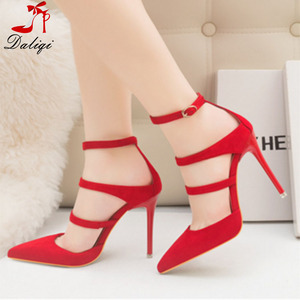 2018 China brand name custom fashion ankle straps ladies fancy sexy wedding high heels dress shoes bridal