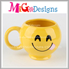 Lovely Emoji Design Ceramic Cups with Hand-make