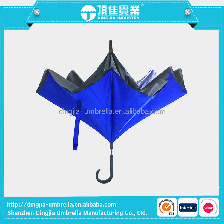 Wholesale Polyester fabric material kazbrella umbrella inverted umbrella car umbrella