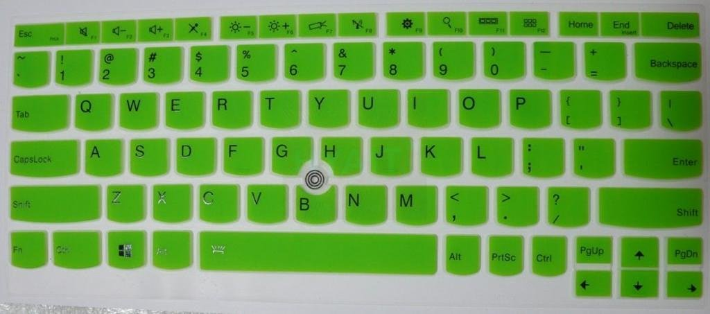 HYAIT 1Pcs Colorful Silicone Keyboard Protector Skin Cover for ThinkPad X230S X240 X240S YOGA S1 SEMI-GREEN