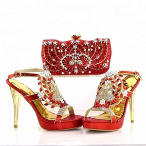 KB7727 wholesale price italian shoes and purse for lady african shoes and bag  set b7a8c6e96022
