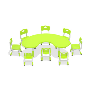 Candy Colors Early Education Children Table School,Fashion Plastic Table Kids,Children Plastic Half Moon Table