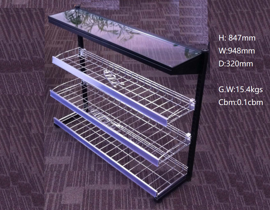 China Gold Supplier Customer Size stainless steel glass wire shelf