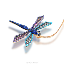 jewelry 2017 wholesale turkish jewelry supplies multicolor stone dragonfly pendant necklace