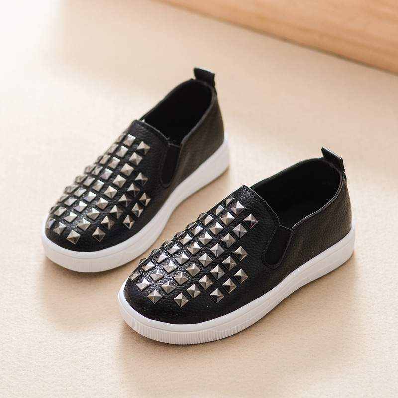 2016 Spring Children Casual Sport Shoes Rivet Boys Girls Sneakers Slip On Toddler Baby Shoes Chaussure