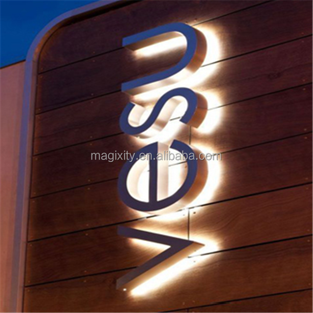 Outdoor custom made LED sign high quality 3d illuminate LED letter lights