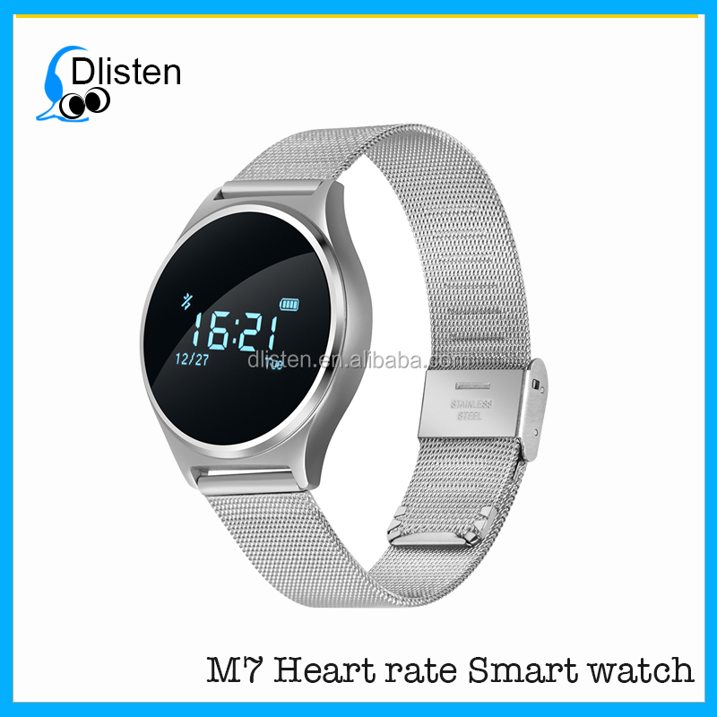 M7 Bluetooth Fitness Smart Wrist Watch Mobile with Heart Rate / Blood Pressure Monitor watch