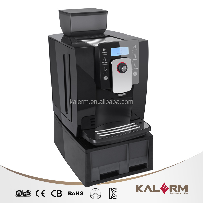 kalerm 1601w large capacity bean to cup commercial coffee machine with 750g bean container - Commercial Coffee Maker