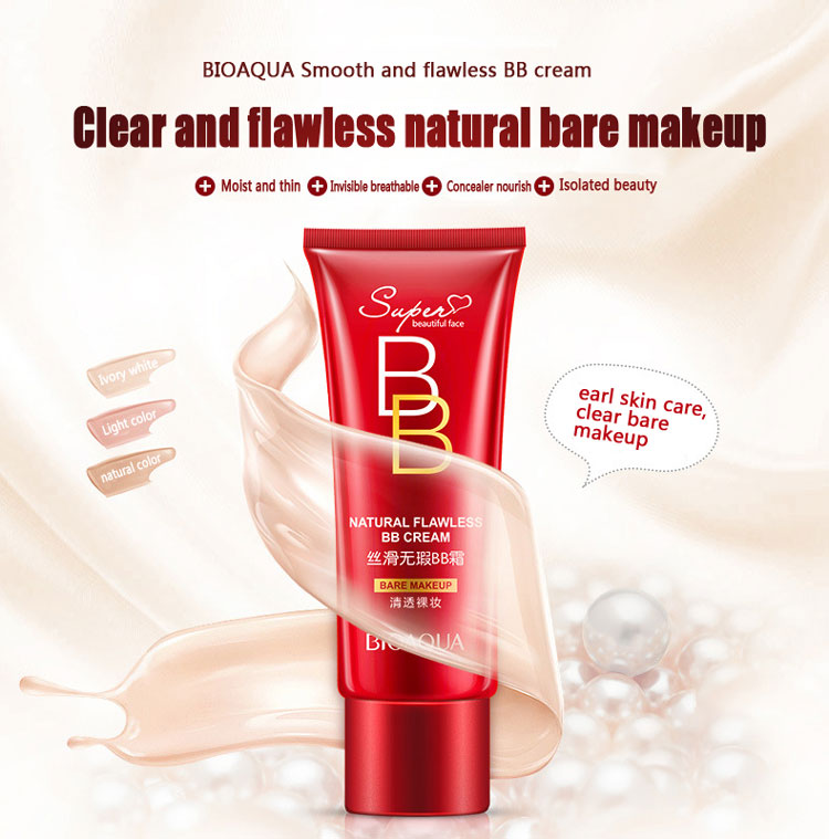 OEM BIOAQUA natural flawless whitening makeup foundation for bb cream Three color optional