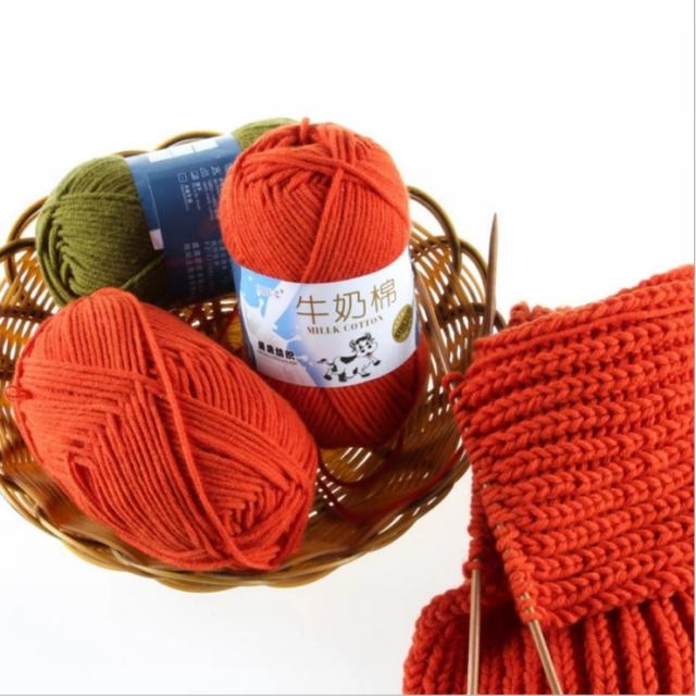 Free Samples Various Colors Soft Worsted Knitting Baby Yarn Thick Milk Cotton Yarns For Crochet