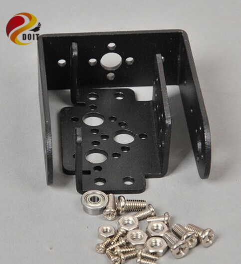 Official DOIT Servo Bracket Kit= Short U Type Frame+ Multifunction Servo Bracket+ Screw Servo Holder Robot MG995 Robotic Arm