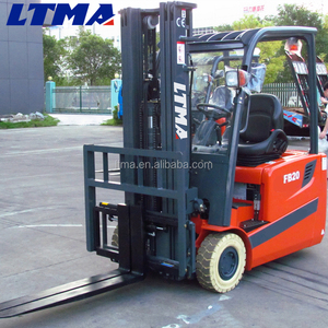2 ton three wheel electric forklift with 3m lifting higeht