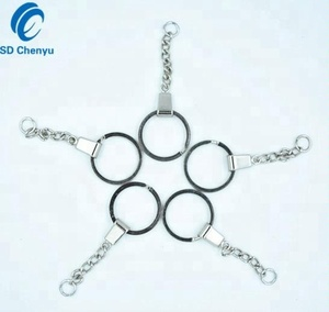 Wholesale 20mm Nickel Plated Metal Split Keyrings with Chain Manufacturer in China