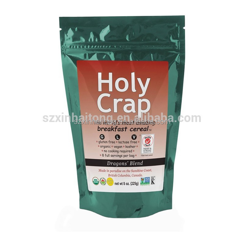 2017 hot sale green coffee tea bag / coffee bean packaging pouch / empty tea bag